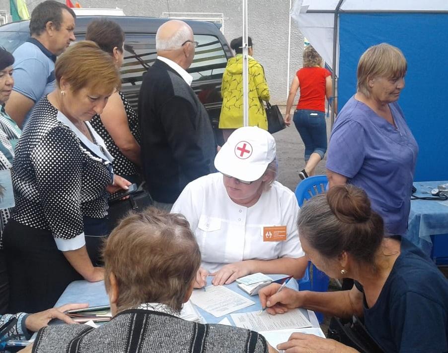 Жители Ребрихи приняли участие в акции «Движение – это жизнь!»
