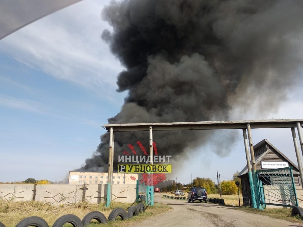 Серьезный пожар произошел в Рубцовске