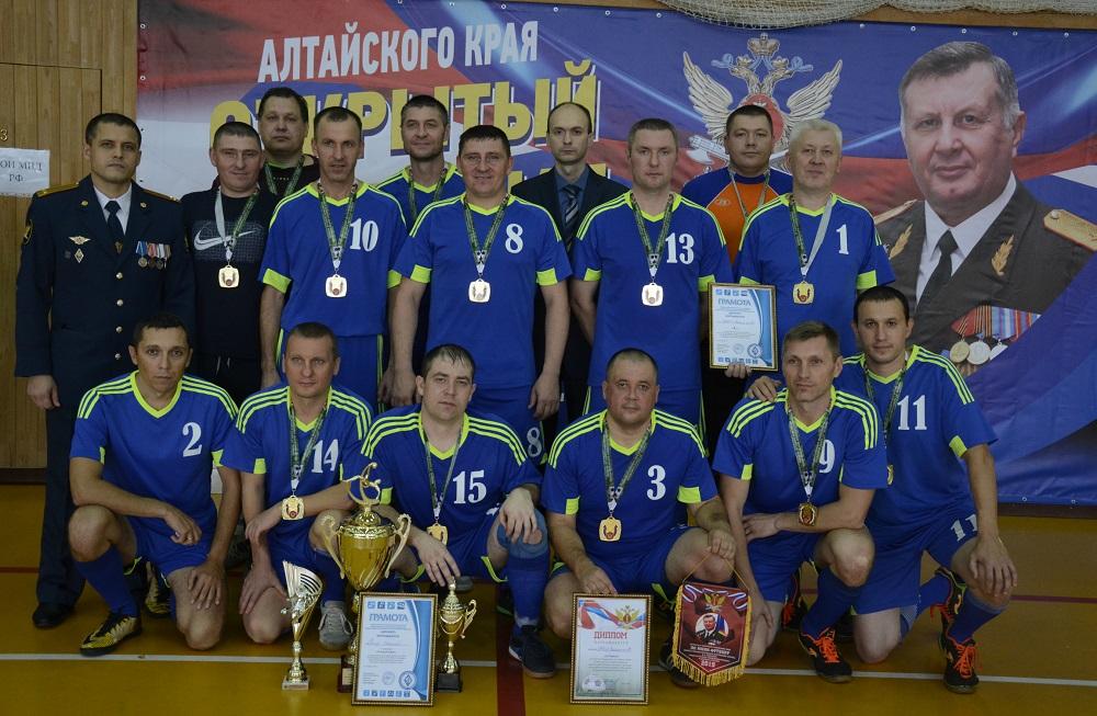 Завершился открытый чемпионат по мини-футболу среди ветеранов правоохранительных и силовых структур Алтайского края