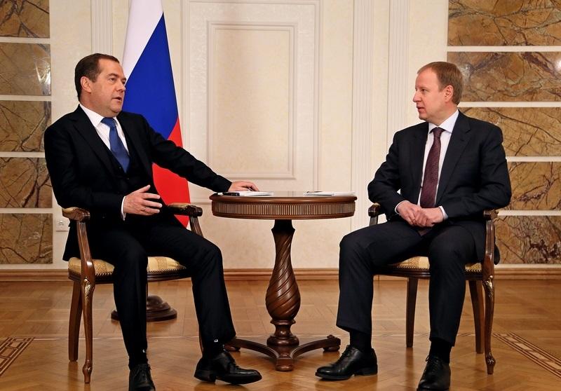 Дмитрий Медведев провел рабочую встречу с главой Алтайского края
