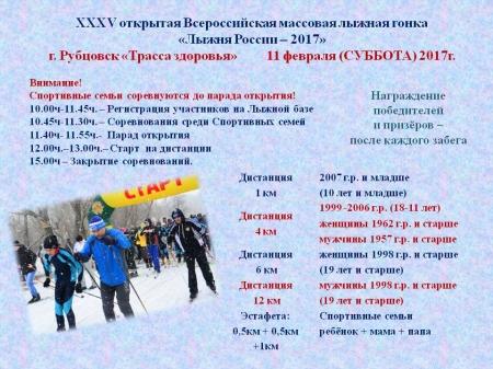 Всероссийская массовая лыжная гонка стартует вБитце
