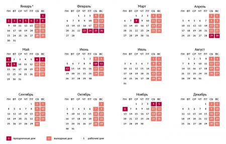 Напредстоящей неделе омичи будут работать всего три дня