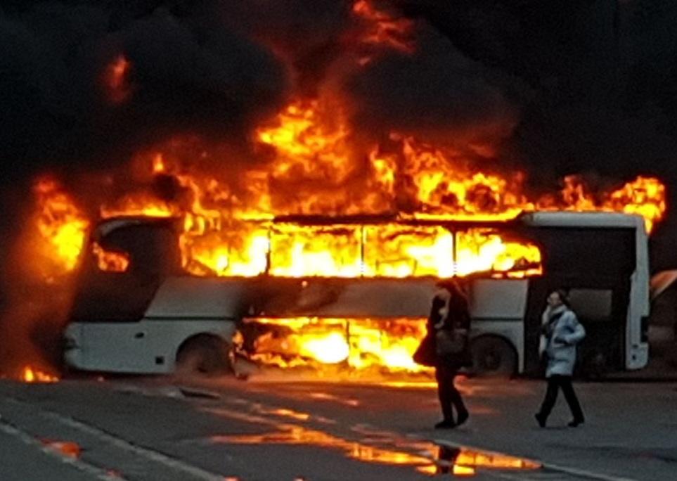 Новые детали пожара впитерском автобусе сошкольниками изБарнаула